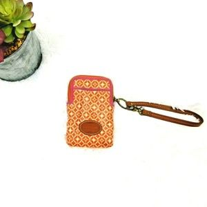 CLEARANCE Fossil cell phone travel bag wristlet